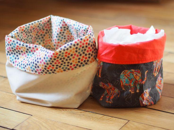 Boîtes de rangement en tissu - thème cirque