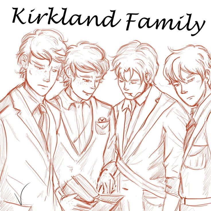 Kirkland Family! Wales, Northern Ireland, Scotland and England from Hetalia (aph).