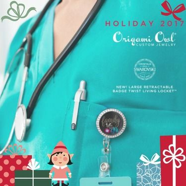 Work in style with Origami Owl's New Large Silver Retractable Badge Twist Living Locket™ with Swarovski® Crystals. Member Article posted by Nancy Pye on Sassy Direct.