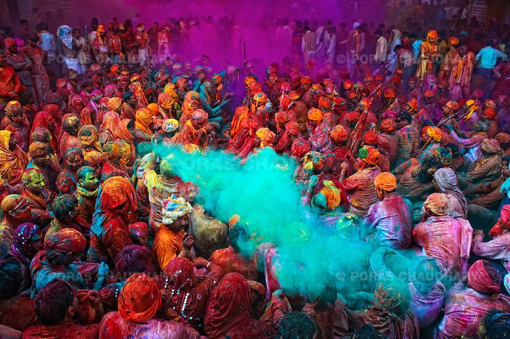 #colorfulworld  The festival of Holi is a religious festival. People sing bhajans of Radha and Lord Krishna on this day and it marks the beginning of Spring Season in india.    Here you can see a gathering of people singing folk songs during Holi (Festival of Colors), India...