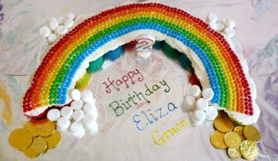 Eliza's 2nd Birthday Rainbow Cake
