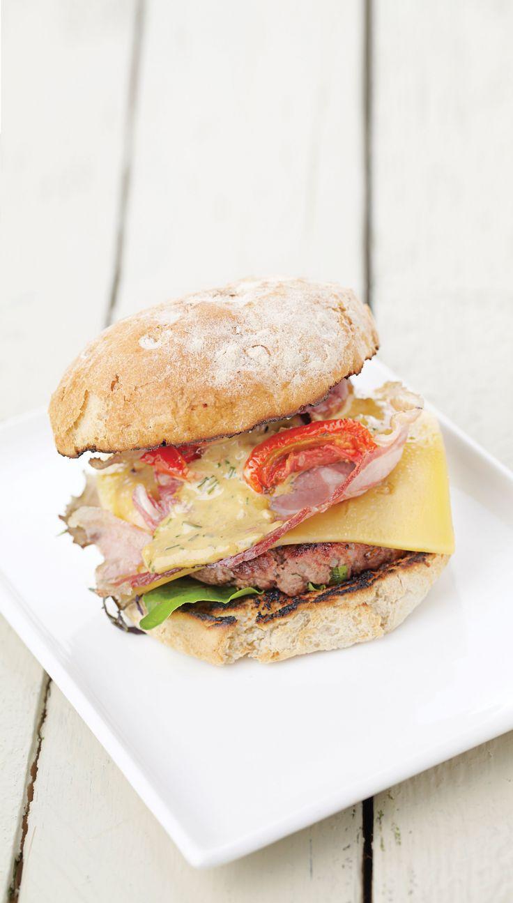 De perfecte hamburger met Witblauw rundvlees