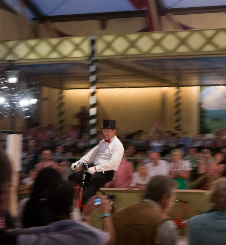 Unicycle artist at the #Oktoberfest in Munich, Germany.