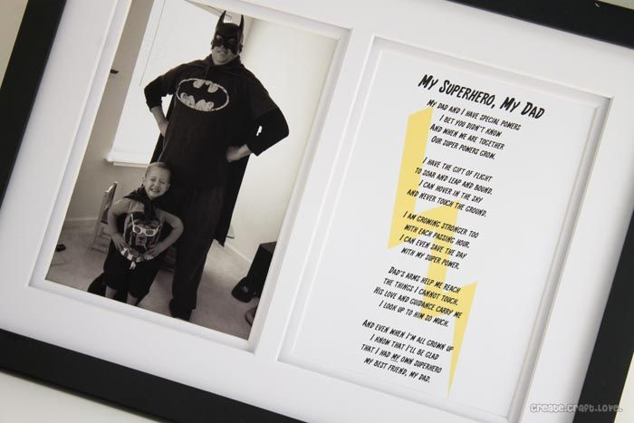 Poem and Printable for Father's Day - My Superhero!