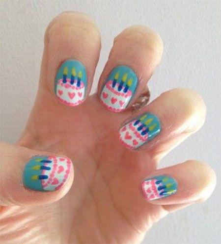Cake Nail Art Design : Best 25+ Birthday nail designs ideas on Pinterest