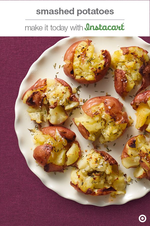 Ditch the mash and get with the smash. This smashed potato side recipe at your Christmas table is guaranteed to be a smash hit!Want to make it today? Have the ingredients delivered to your door in 2 hours or less with Instacart.