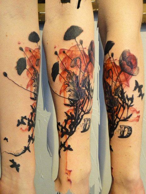 Abstract Flowers Tattoo by Xoil Tattoo | Tattoo No. 10525