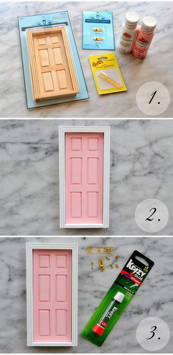 Fairy door: create a themed door for each place we've lived, complete with the house number.  How cute!!
