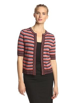 50% OFF M Missoni Women's Striped Cardigan (Coral Multi)