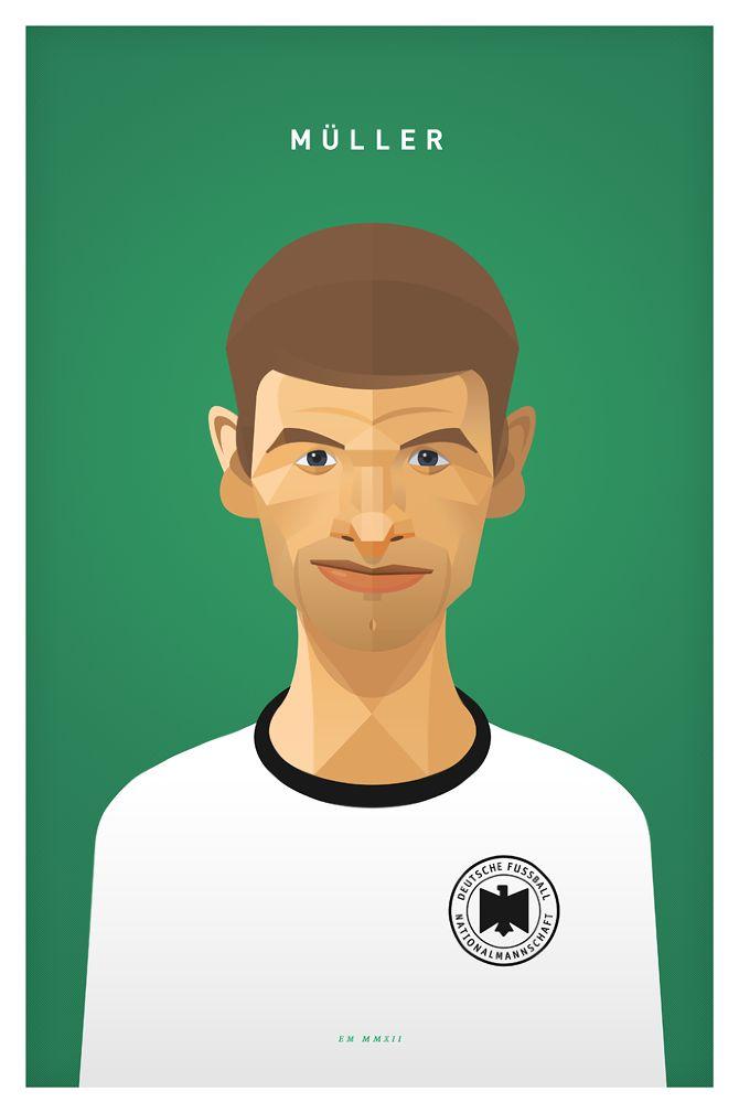 Thomas Müller EM MMXII - Daniel Nyari Graphic Design & Illustration