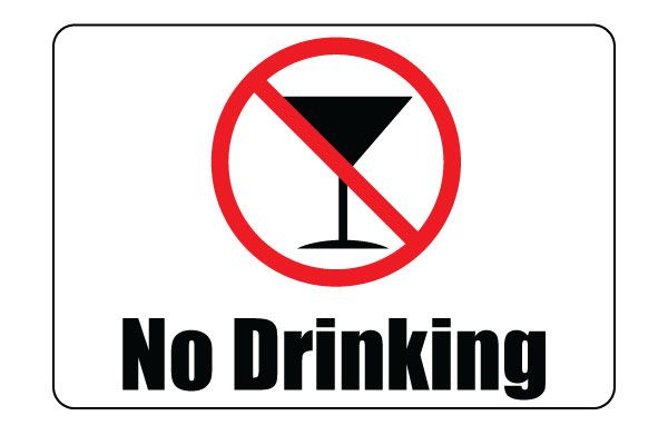 Printable No Drinking Sign PDF Free Download For