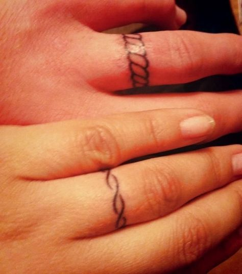 48 sweet wedding ring tattoos - Wedding Ring Finger Tattoos