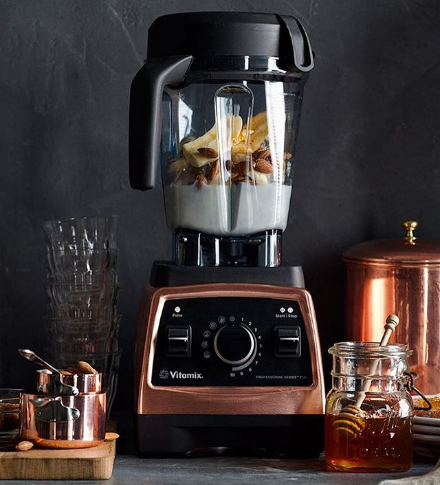 We're in love.  Add a bit of warmth to your kitchen with our new @Vitamix Copper Blender! It has the power + functionality of our Pro 750 but with the added durability of a metal base with beautiful copper finish. Shop or add to your #weddingregistry using the link in our profile. #copperlove