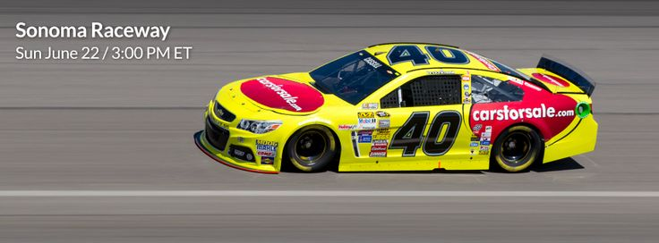 Look for the #40 Carsforsale.com car driven by Landon Cassill on Sunday, June 22nd at Sonoma Raceway