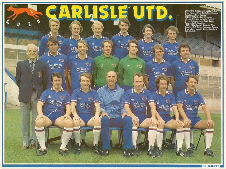 Carlisle Utd team group in 1982-83.