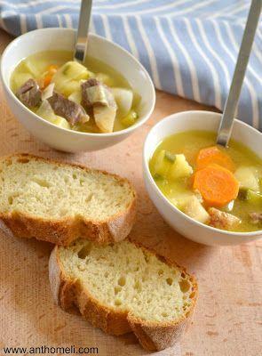 Σούπα με μοσχαράκι και λαχανικά - Anthomeli