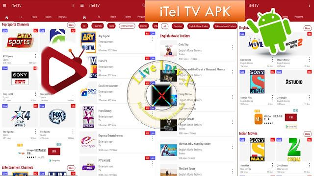 iTel TV APK For World Live Channels Movies Songs FM Radio On Android Device   Satellite TV : Free Streaming Live TV Channels[Iptv APK]: iTel TV APK- Movie Live TV APK- In this apk you can Watch 2000 TV Channels  Live Streamingworld Live Channels Movies in HDand Listen 250 FM Radio SongTotally FreeOnAndroid Devices.  iTel TV APK  Best Satellite TV Service   Download Android APP  [ forAndroid Devices]  Download Apple APP[ forApple Devices]  Download Windows APP[ forWindows Devices]…