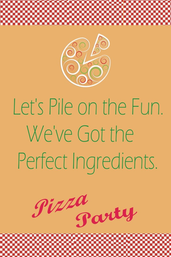 Pizza themed birthday party. #Pizza #themed #birthday #party #invitations #wording