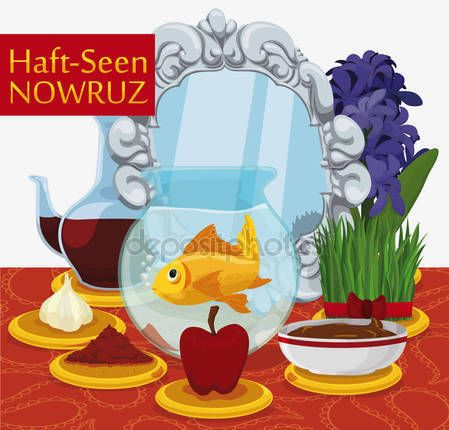 Traditional Haft-Seen Table Ready for Nowruz Celebration