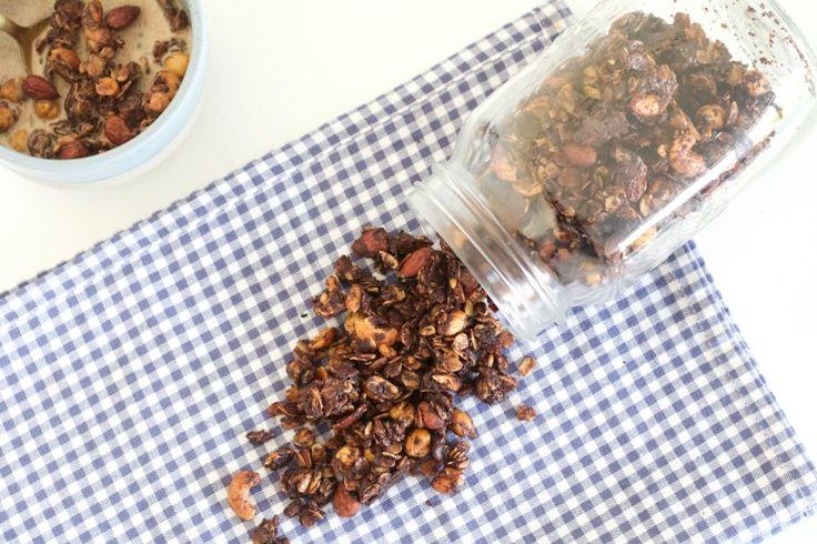 Granola met pure chocolade