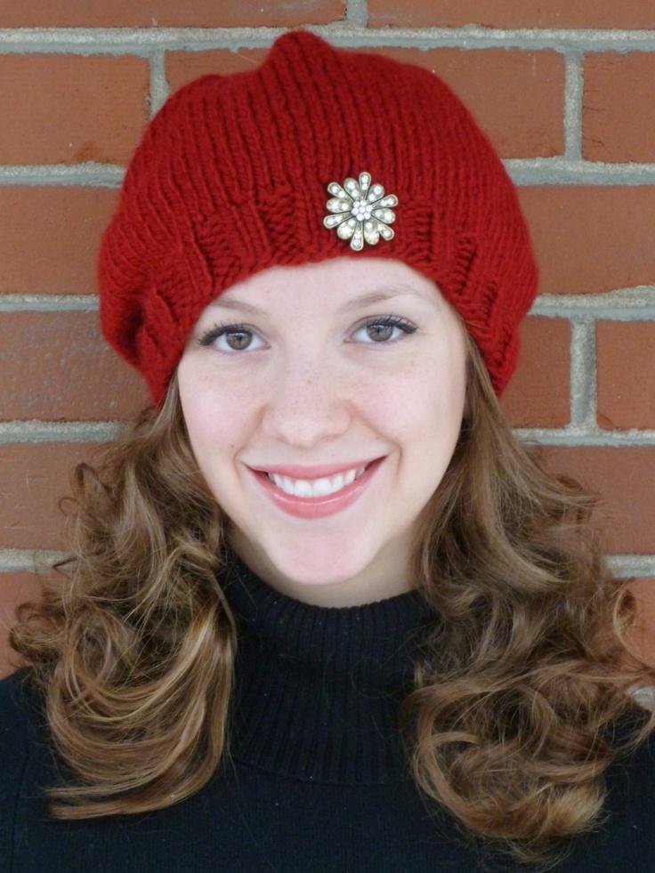 KNITTING PATTERN Hipster Hat - Easy Beginner Knit Hat ...
