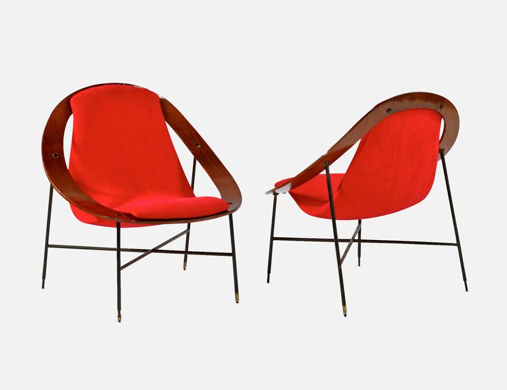 Pair of Lounge Chairs - Ico Parisi @paddle8 #auction https://paddle8.com/work/ico-parisi/53754-pair-of-lounge-chairs