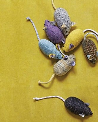 DIY Mice from old suits and shirts