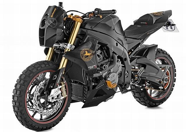 "BMW S 1000 RR ""Mad Max"" by Wunderlich (BMW's aftermarket specialist) and and renowned French designer Nicolas Petit - inspired by the classic Mad Max sci-fi movie trilogy of the late 70s-early 80s"