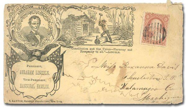 civil war patriotic covers Stamp Auctions