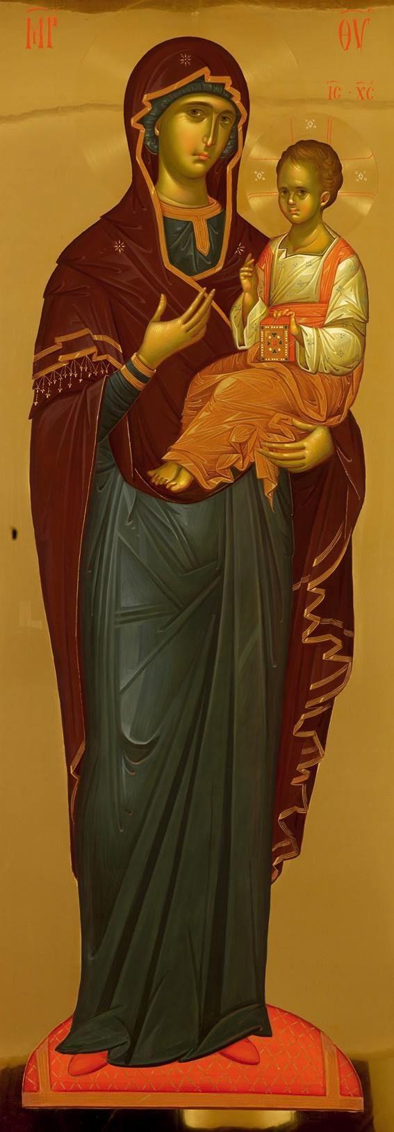 Прелепа икона ПРЕСВЕТЕ БОГОРОДИЦЕ СА БОГОМЛАДЕНЦОМ