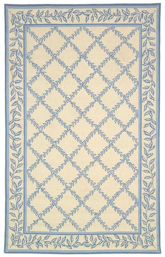 beautiful miniature blue and ivory carpet
