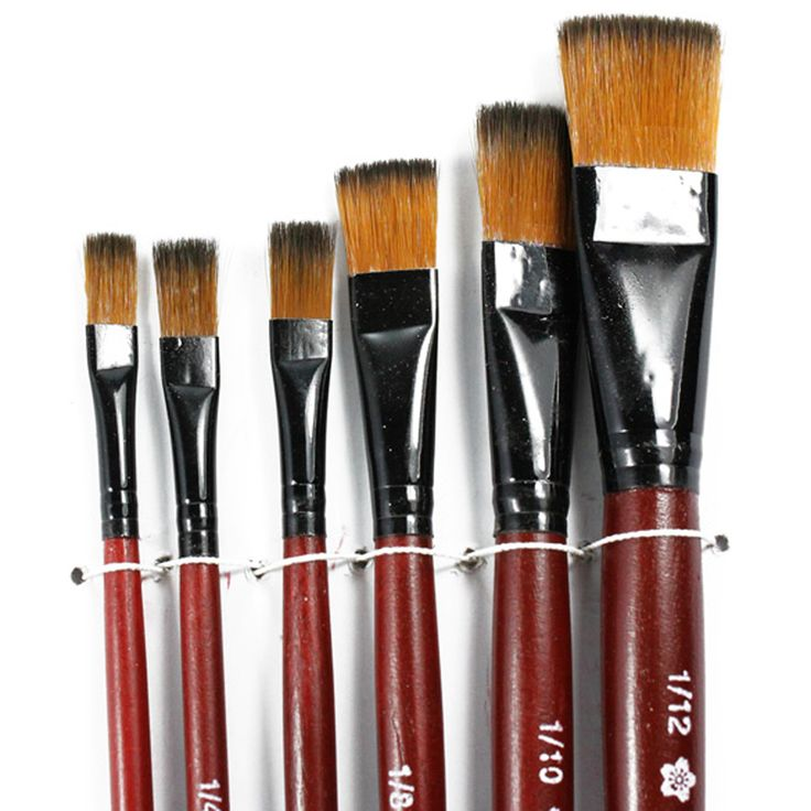 New 6 pcs different shape nylon hair paint brush gouache watercolor brush oil painting acrylics brush art supplies #clothing,#shoes,#jewelry,#women,#men,#hats,#watches,#belts,#fashion,#style