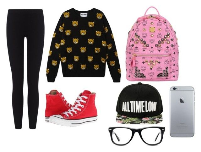 something by dj-eyecandy on Polyvore featuring Moschino, James Perse, Converse, MCM and Muse