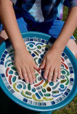Mosaic Birdbath {Tutorial} http://www.happinessishomemade.net/2011/06/13/mosaic-birdbath-tutorial/