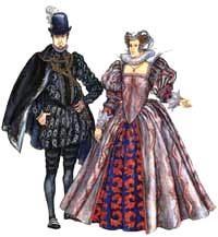 Женские костюмы эпохи возрождения