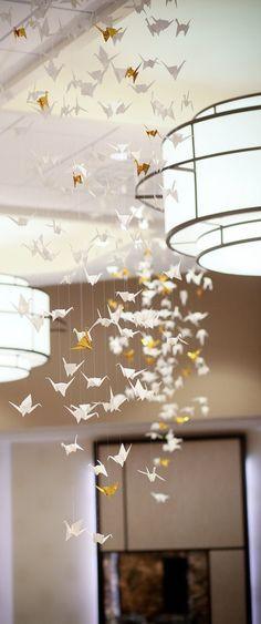Origami décoration de mariage / / Origami fête par RelaxEventStudio