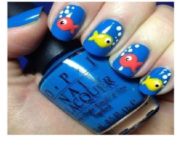 25+ trending Fish nail art ideas on Pinterest | Summer nails, Fish nails  and Summer shellac designs - 25+ Trending Fish Nail Art Ideas On Pinterest Summer Nails, Fish