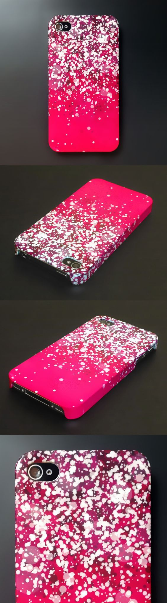 Omg i love this hot pink sparkly phone!