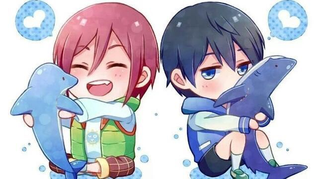 A Dolphin Or A Shark Rin X Reader X Haru Completed Finally Home Kind Of Free Anime Anime Chibi Since you take requests could yuo make a yuri p x reader like when their older and have 2 kids or something?? dolphin or a shark rin x reader x haru