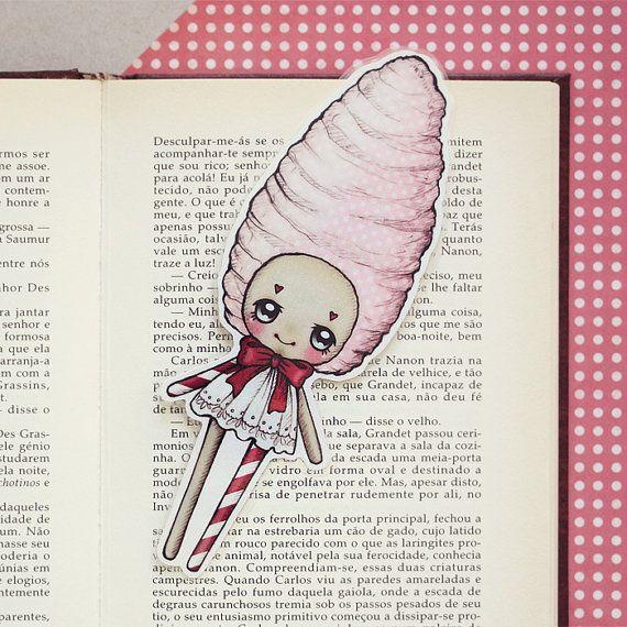 Candy  Romantic Carnival bookmark by ribonitachocolat on Etsy