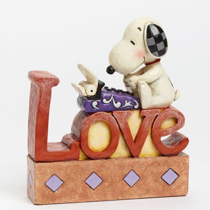 Jim Shore LOVE - Snoopy Love Word Figurine (Disney Tradition)