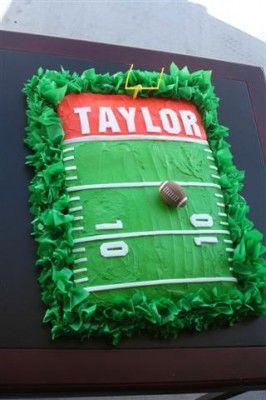 Football Cake Decorating Idea