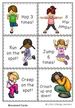 Movement and Me Activities - Foundation Science Packet ...