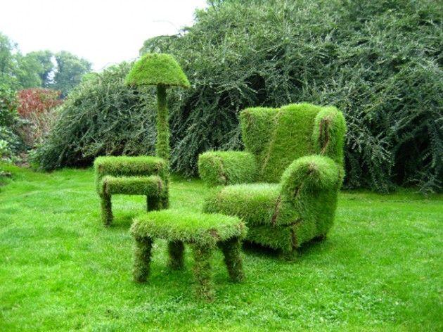 Dies Garten-Wohnzimmer passt in jeden Vorgarten. Für euch gefunden bei architectureartdesigns.com