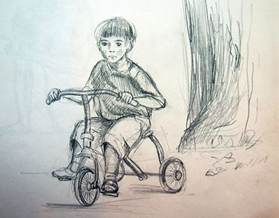 "Check out new work on my @Behance portfolio: ""мальчик на велосипеде."" http://on.be.net/1GRhYxx"