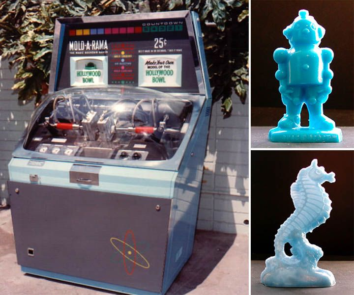 Mold-A-Rama machine from the mid-50s. Totally remember these even the early 70s, probably from a trip to Florida as a child.