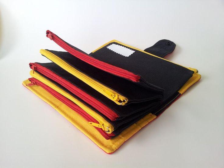 (9) Nome: 'Costura: Caixa Envelope Wallet, sistema de dinheiro Orçamento