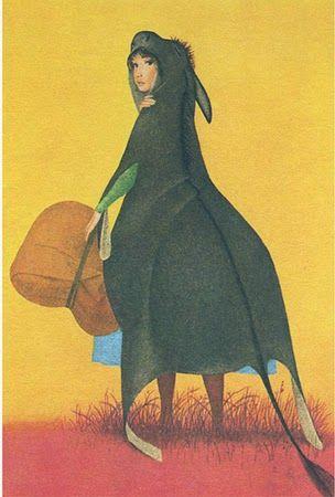 """Ugo Fontana, illustrazione per """"Pelle d'asino"""", 1966."""