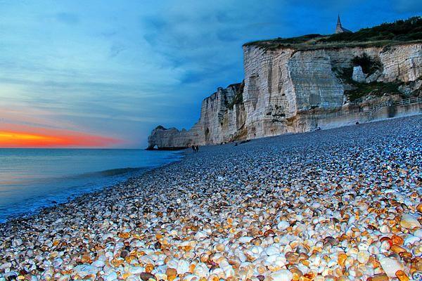 Alabaster Coast, Normandy, France.  Photographed by Julia Apostolova.