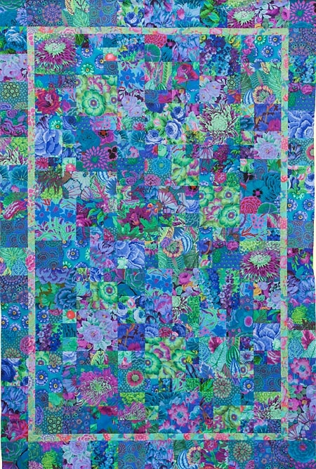 "SSSQ Blue PotPourri Quilt Fabric Pack from Glorious Color - quilt fabric and kits from ""Museum Quilts"", ""Passionate Patchwork"", and ""Kaleidoscope of Quilts"" by Kaffe Fassett & Liza Lucy"